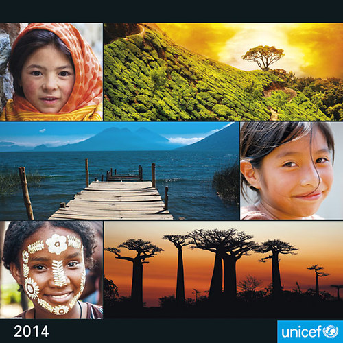[UNICEF falinaptár, 2014, 30x30 cm]